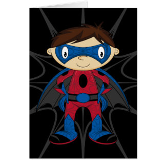 Cute Superhero Boy Card