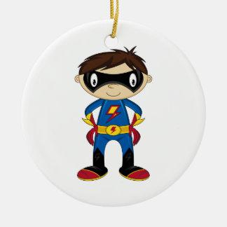 Cute Superhero Boy Christmas Ornament