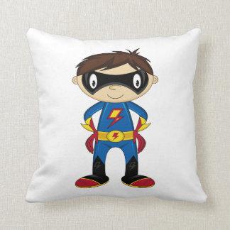 Cute Superhero Boy Pillow