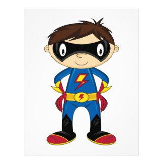 Cute Superhero Boy 21.5 Cm X 28 Cm Flyer