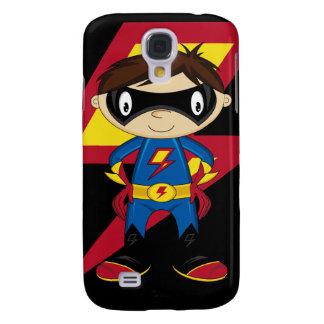 Cute Superhero Boy Galaxy S4 Case
