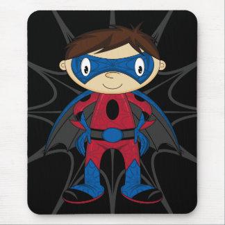 Cute Superhero Boy Mouse Pad