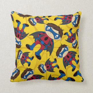 Cute Superhero Boy Pattern Throw Pillow