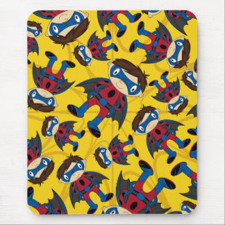 Cute Superhero Boy Pattern Mouse Mat