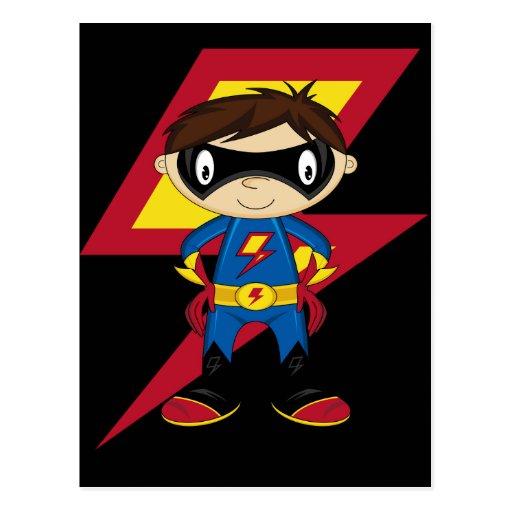 Cute Superhero Boy Postcard