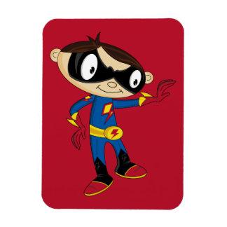 Cute Superhero Boy Vinyl Magnet