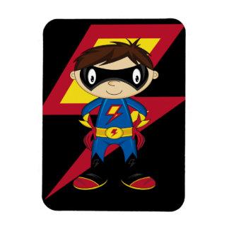 Cute Superhero Boy Flexible Magnets