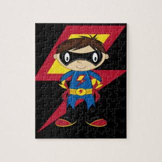 Cute Superhero Boy Jigsaw Puzzle