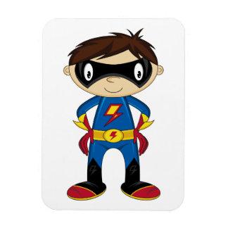 Cute Superhero Boy Rectangular Photo Magnet