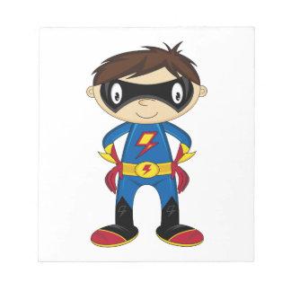 Cute Superhero Boy Scratch Pads