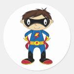 Cute Superhero Boy Stickers