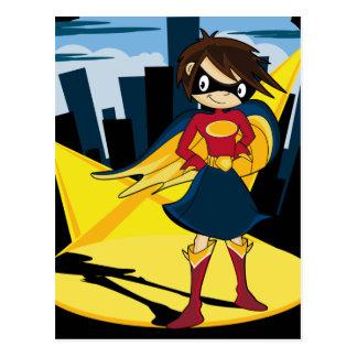 Cute Superhero Postcard