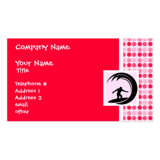 Cute Surfing Double-Sided Standard Business Cards (Pack Of 100)