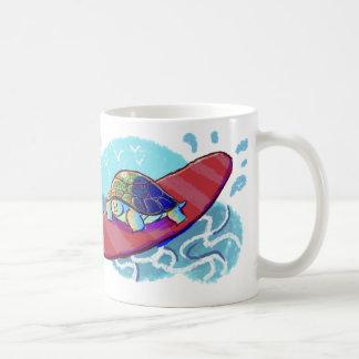 Cute Surfing Turtle Coffee Mugs