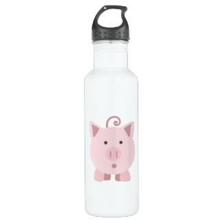 Cute Surprised Pig 710 Ml Water Bottle