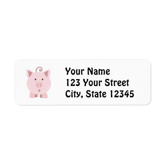 Cute Surprised Pig Return Address Label