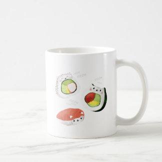 Cute Sushi Cat Basic White Mug