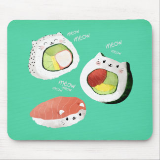 Cute Sushi Cat Mouse Mat