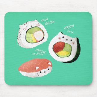 Cute Sushi Cat Mouse Pad
