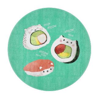 Cute Sushi Cat Rolls Cutting Board