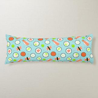 Cute Sushi Pattern Blue Body Cushion