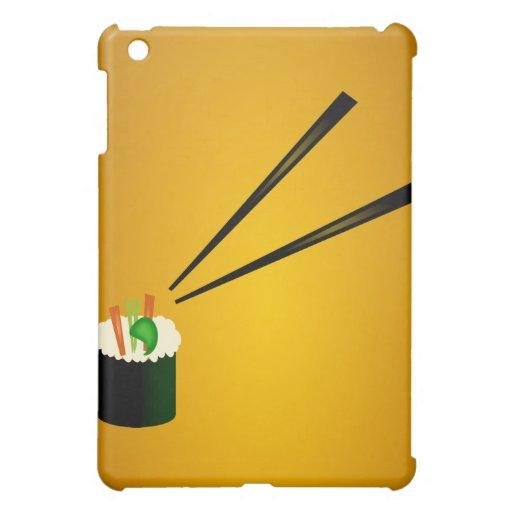 Cute Sushi Roll In Corner With Chopsticks Case For The iPad Mini