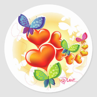 Cute Sweet Colorfull Summer Love Friendship Classic Round Sticker