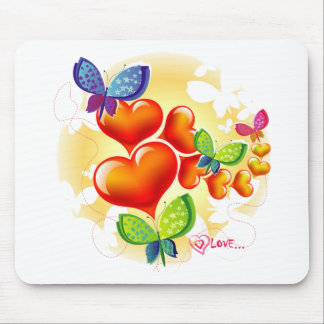 Cute Sweet Colorfull Summer Love Friendship Mouse Mat
