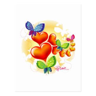 Cute Sweet Colorfull Summer Love Friendship Postcard