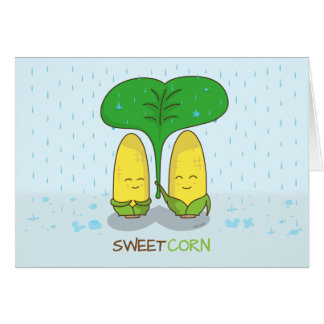 cute sweet corn love couple for someone special card