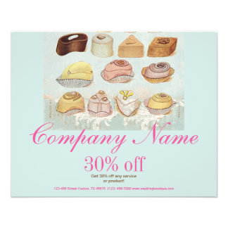 cute sweet dessert chocolate cookies bakery 11.5 cm x 14 cm flyer
