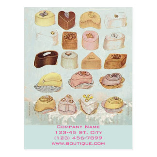 cute sweet dessert chocolate cookies bakery postcard