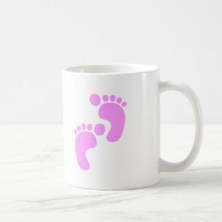 Cute Sweet Footsteps Funny Shirt Basic White Mug