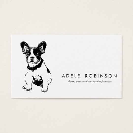 Cute Sweet French Bulldog Puppy Business Card