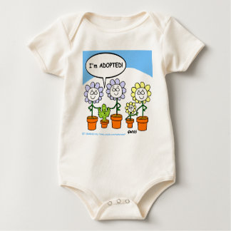 Cute Sweet Funny Adopted Baby Cartoon Baby Bodysuit