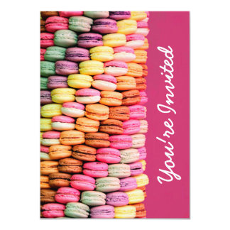 Cute Sweet Macarons Pink Birthday Party Card