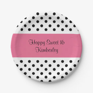 Cute Sweet Sixteen 7 Inch Paper Plate