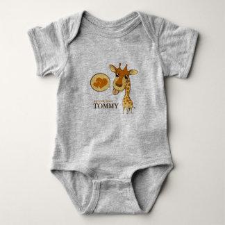 Cute Sweetheart Giraffe Lucky Number Baby Bodysuit