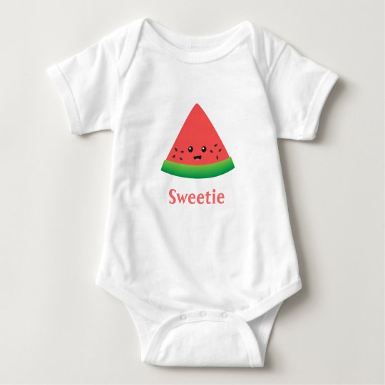Cute Sweetie Watermelon for Baby Girl Baby Bodysuit