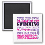 Cute Swim Gifts and Apparel for Girls and Women Square Magnet