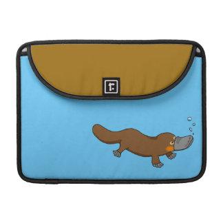 Cute swimming duck-billed platypus MacBook pro sleeves