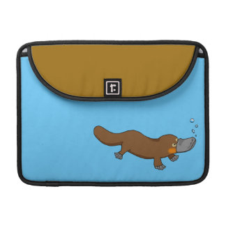 Cute swimming duck-billed platypus sleeve for MacBooks