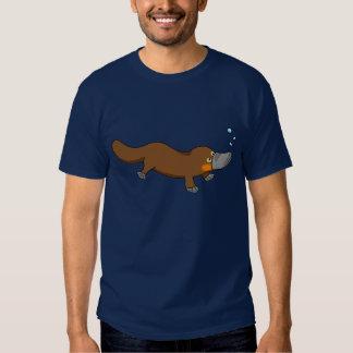 Cute swimming duck-billed platypus tshirt