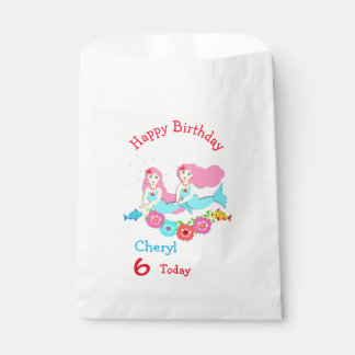 Cute Swimming Mermaid Themed Party Favour Bags