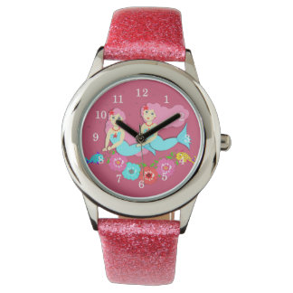 Cute Swimming Mermaids Theme Watch