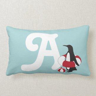 Swimming Penguin Cushion
