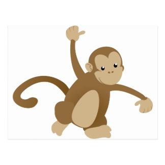 Cute Swinging Monkey Postcard