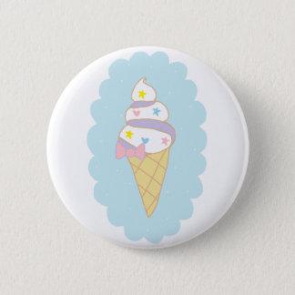 Cute Swirl Ice Cream Cone 6 Cm Round Badge