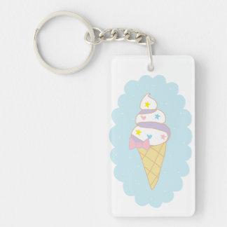 Cute Swirl Ice Cream Cone Acrylic Keychain