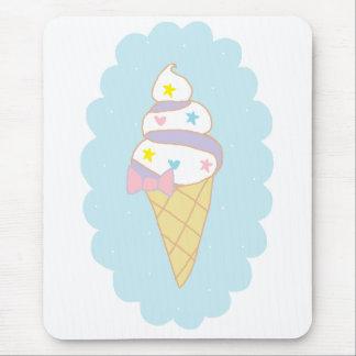 Cute Swirl Ice Cream Cone Mouse Pad